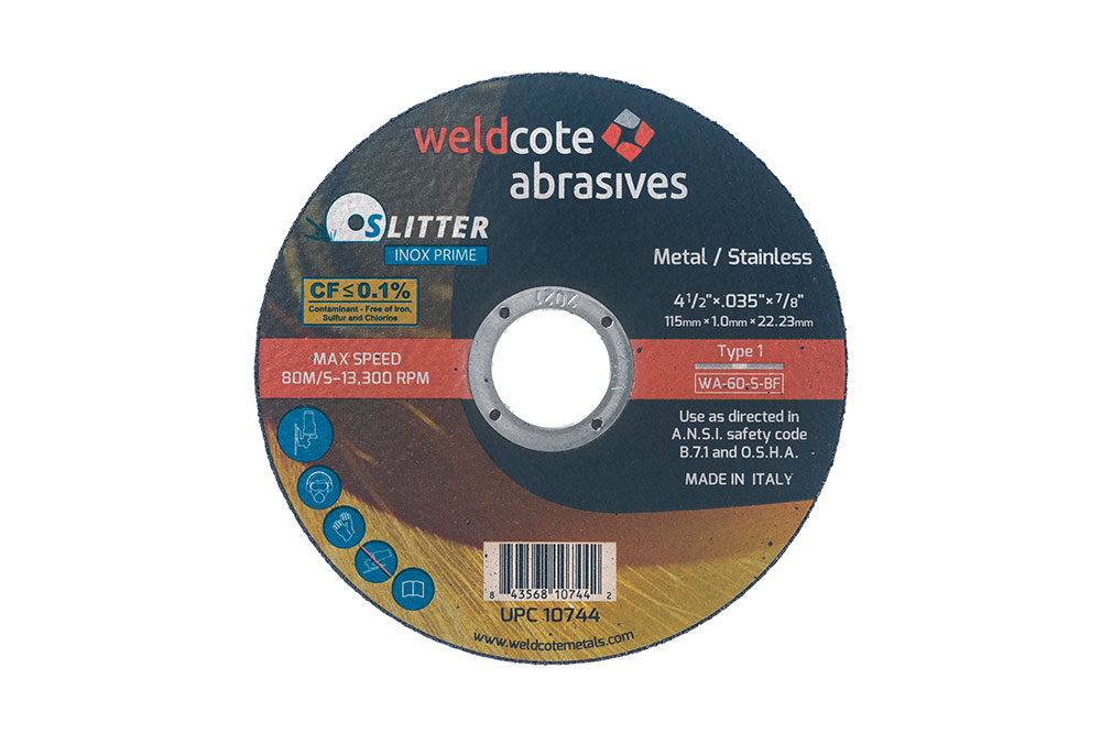 right-angle-grinder-wheels,-cutting-slitter-inox-prime, resin-bonded-abrasives